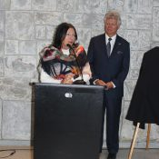 Susan McPeak thanking Sylvain Lemieux for his leadership